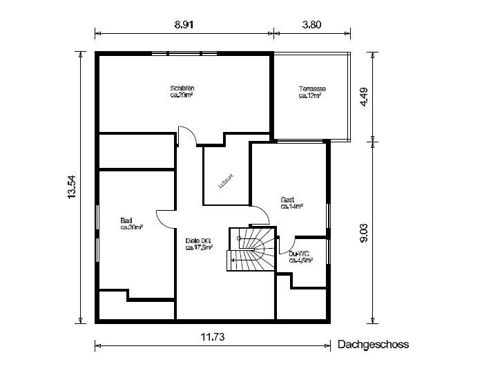 Link zum Planungsdetail Dachgeschoss