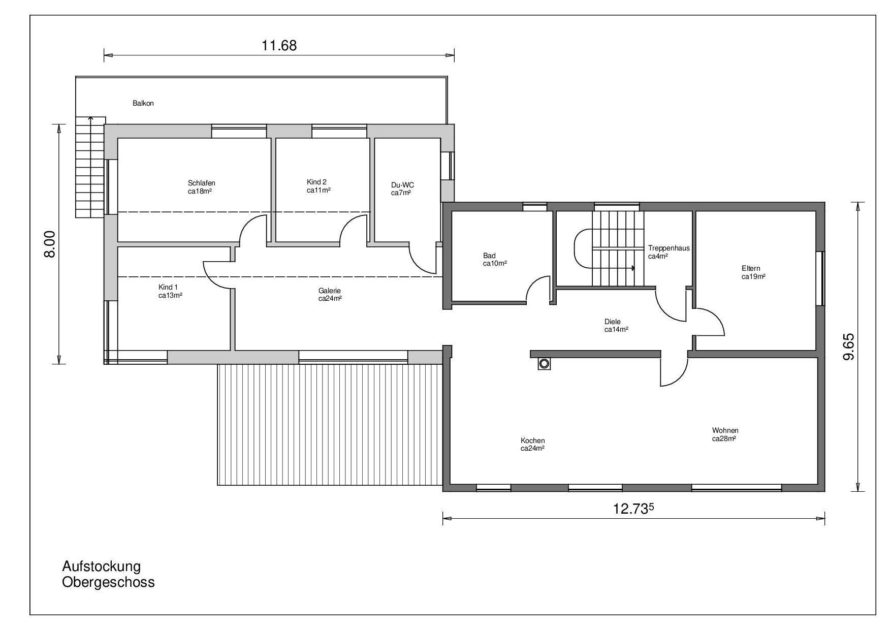 Link zum Planungsdetail Aufstockung Obergeschoss